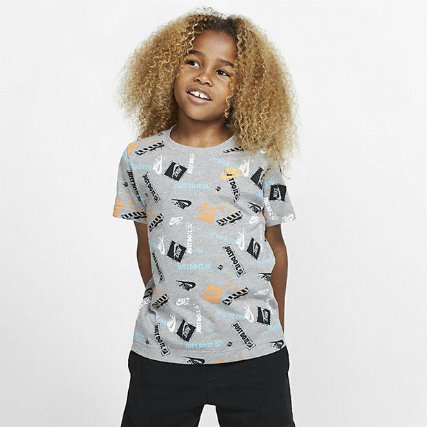 Nike-T-shirt med print til småbørn