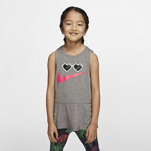 Nike-overdel uden ærmer til små børn