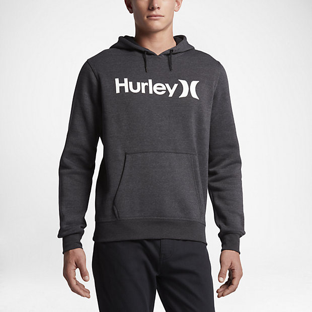 Mens Nike Hurley Surf Club One And Only Black Heather Hoodie