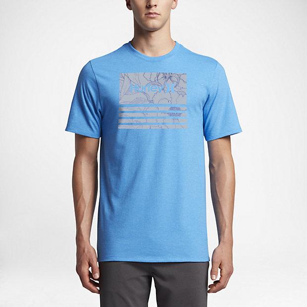 Hurley Borderline Fill Men's T-Shirts Light Photo Blue