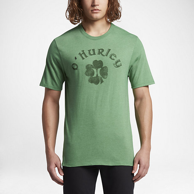 Hurley Borderluck Men's T-Shirts Gym Green