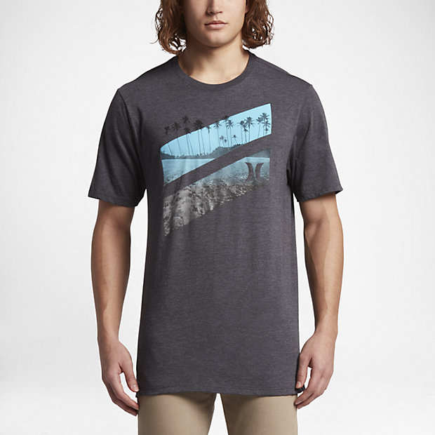 ... Hurley Icon Slash Lagoon Men's T-Shirt