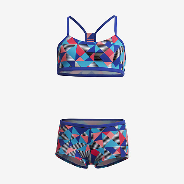 09e9540e34 Nike Optic Pop Racerback Bikini Big Kids' (Girls') Two-Piece ...