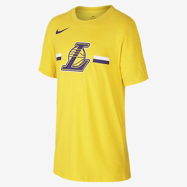 Tričko NBA Los Angeles Lakers Nike Dri-FIT Logo pro větší děti