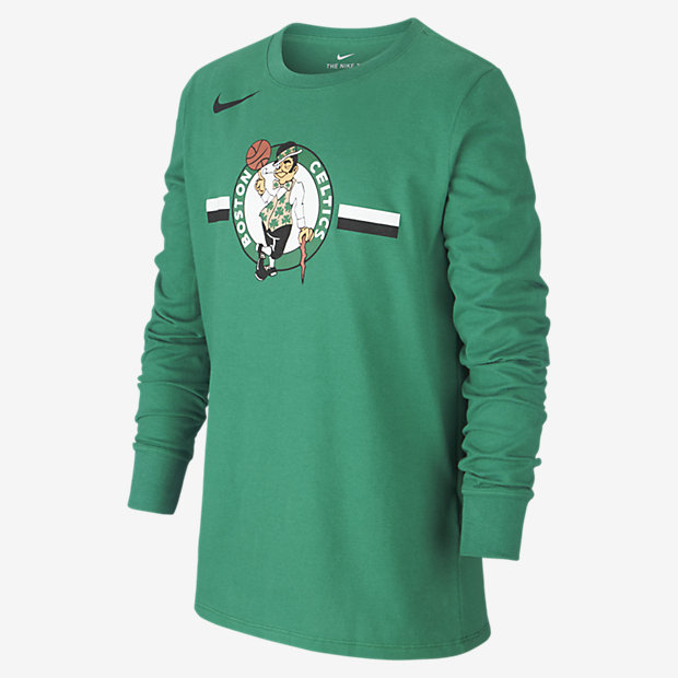 Boston Celtics Nike Dri-FIT Logo Older Kids' Long-Sleeve NBA T-Shirt