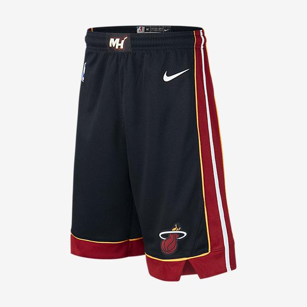 NBA-shorts Miami Heat Icon Edition Swingman för ungdom
