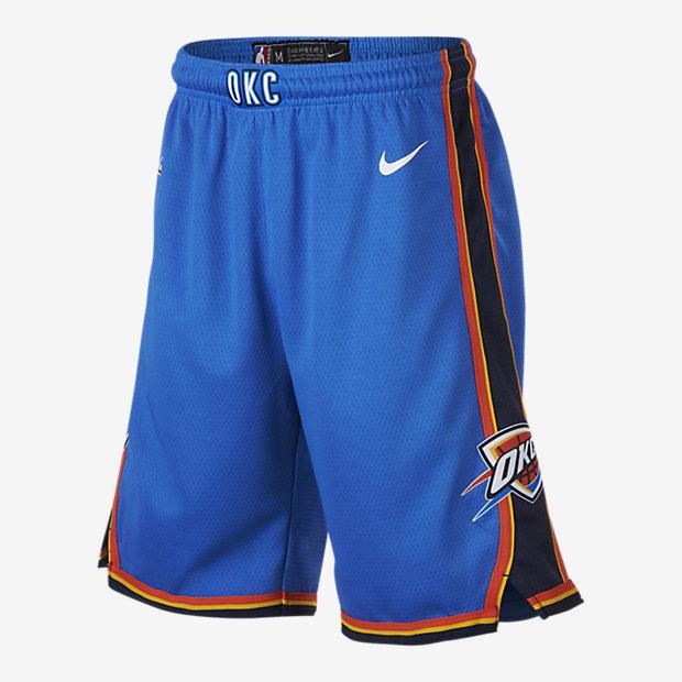 Oklahoma City Thunder Nike Icon Edition Swingman NBA-shorts för ungdom (killar)