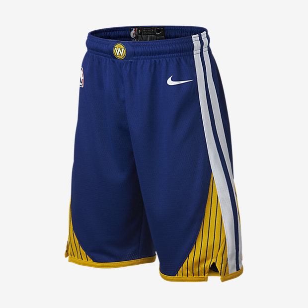 Golden State Warriors Nike Icon Edition Swingman NBA-shorts för ungdom (killar)
