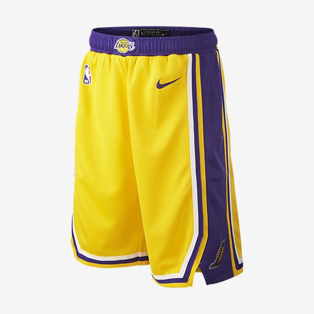 Los Angeles Lakers Icon Edition Swingman Pantalón corto Nike de la NBA - Niño/a