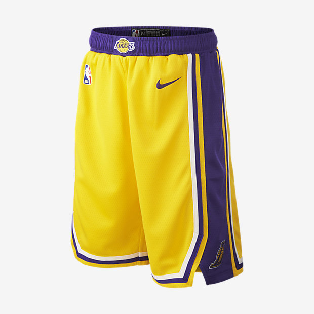 Short Nike NBA Los Angeles Lakers Icon Edition Swingman pour Enfant plus âgé