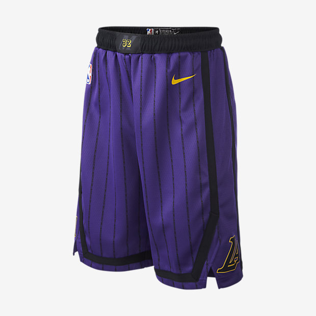 Los Angeles Lakers City Edition Swingman Nike NBA-Shorts für ältere Kinder