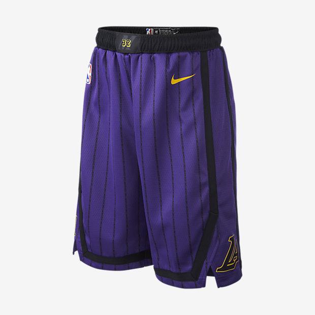 Los Angeles Lakers City Edition Swingman Pantalón corto Nike de la NBA - Niño/a