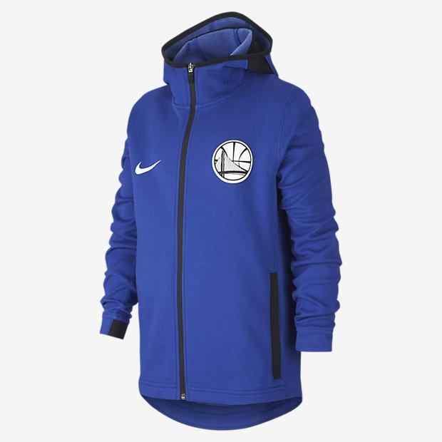 Golden State Warriors Nike Dri-FIT Showtime Older Kids' (Boys') NBA Full-Zip Hoodie