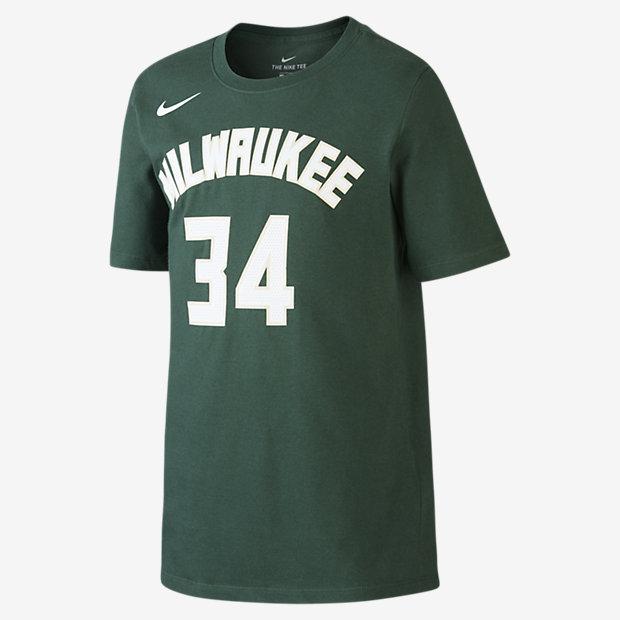 T-Shirt μπάσκετ Nike Icon NBA Bucks (Antetokounmpo) για μεγάλα αγόρια