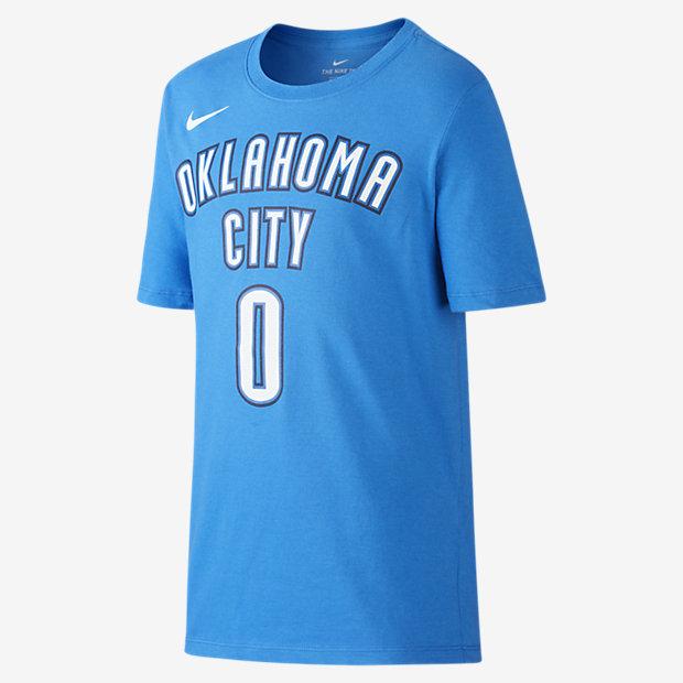 Nike Icon NBA Thunder (Westbrook) Older Kids' (Boys') Basketball T-Shirt