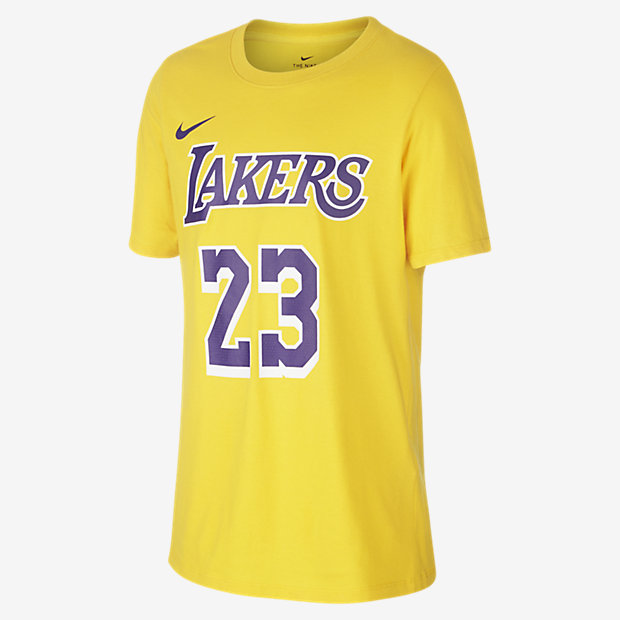 NBA-t-shirt LeBron James Los Angeles Lakers Nike för ungdom