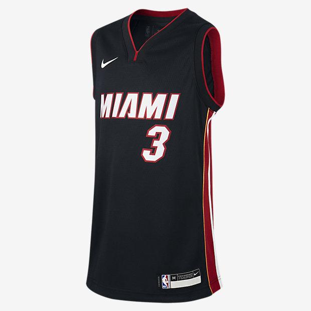 Dwyane Wade Miami Heat Icon Edition Swingman Nike NBA-s mez nagyobb gyerekeknek