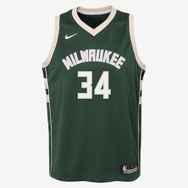 Maglia Giannis Antetokounmpo Milwaukee Bucks Nike Icon Edition Swingman NBA - Ragazzi