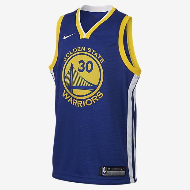 Stephen Curry Golden State Warriors Nike Icon Edition Swingman – NBA-trøje til store børn
