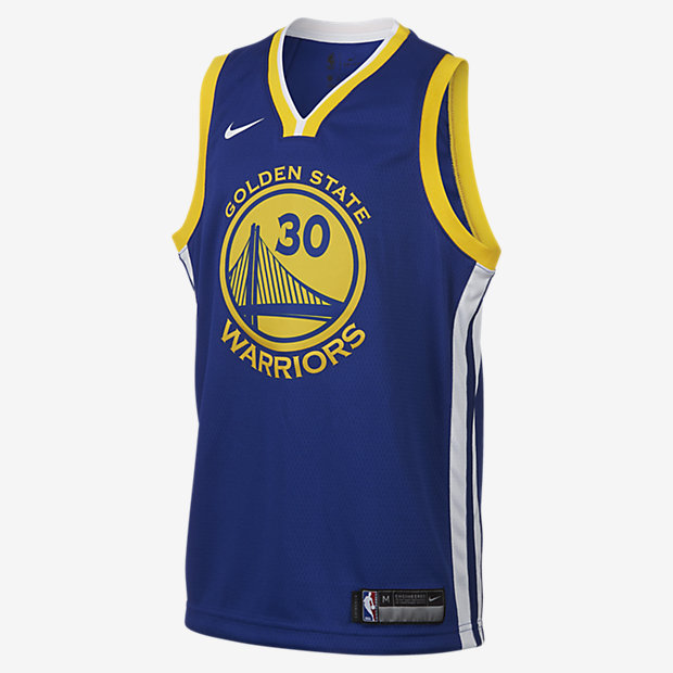Stephen Curry Golden State Warriors Nike Icon Edition Swingman Older Kids' NBA Jersey