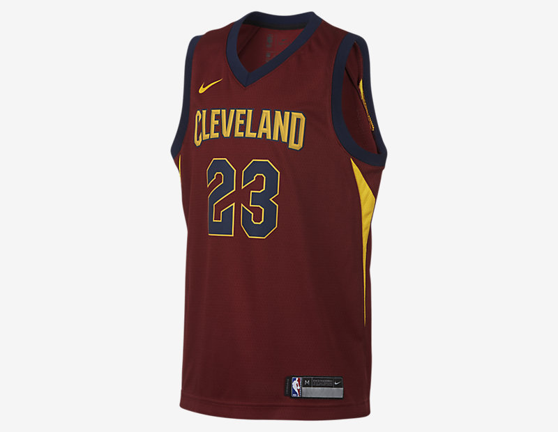 LeBron James Cleveland Cavaliers Nike Icon Edition Swingman