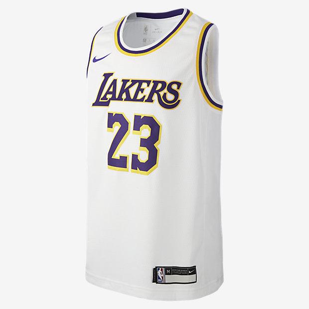 LeBron James Association Edition Swingman Jersey (Los Angeles Lakers) NBA-trøje til store børn