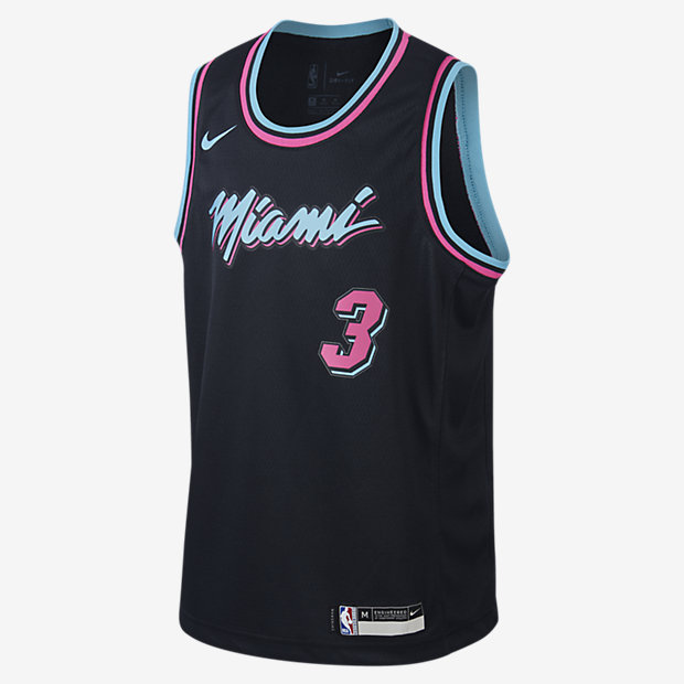Wade Swingmanmiami Âgé Maillot Nba Enfant HeatPour Nike City Dwyane Plus Edition m0v8nNwO