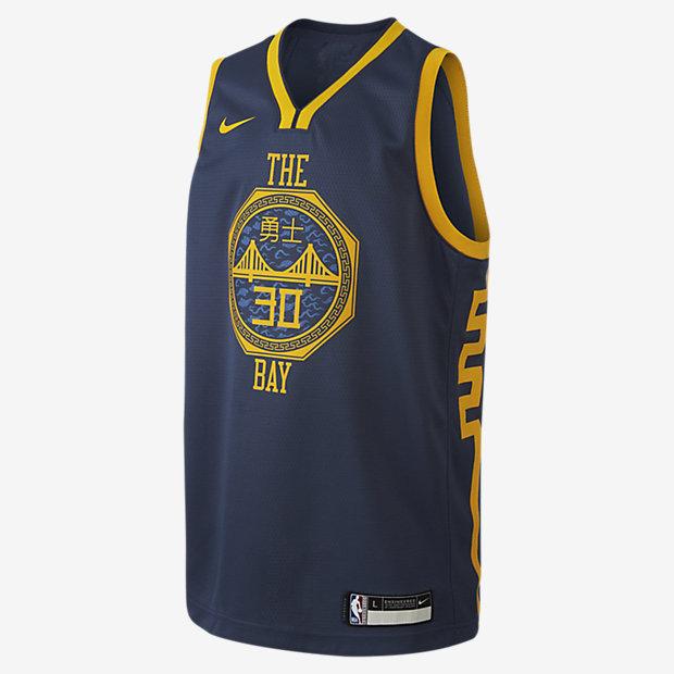 Tröja Stephen Curry City Edition Swingman (Golden State Warriors) Nike NBA för ungdom
