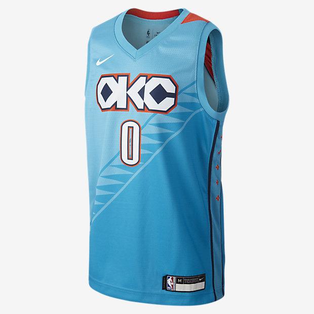 Maillot Nike NBA Russell Westbrook City Edition Swingman (Oklahoma City Thunder) pour Enfant plus âgé