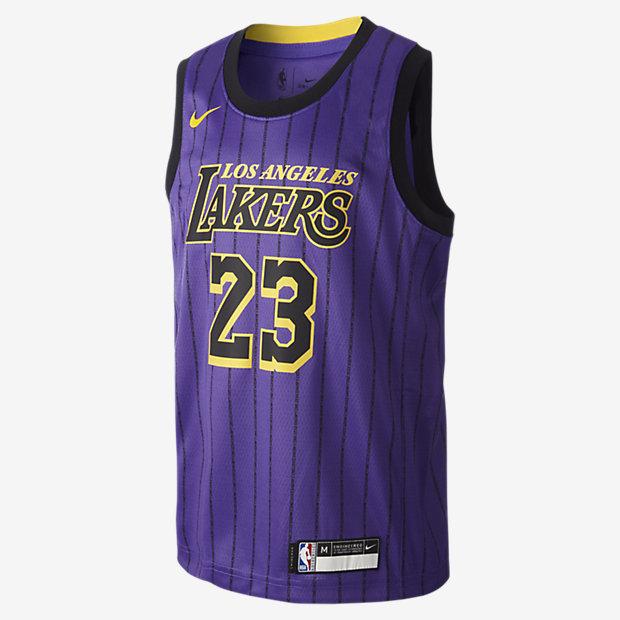 Φανέλα Nike NBA LeBron James City Edition Swingman (Los Angeles Lakers) για μεγάλα παιδιά