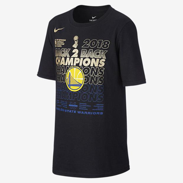 Golden State Warriors Champs Older Kids' NBA T-Shirt