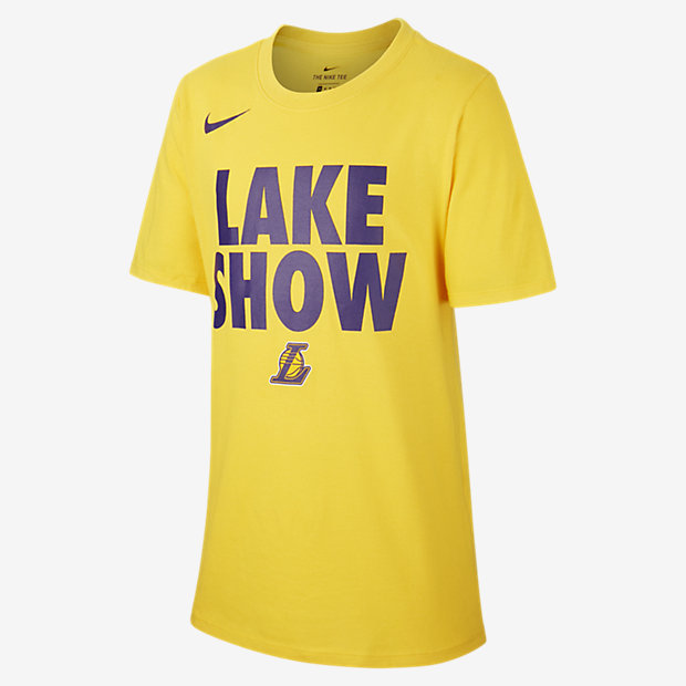 Los Angeles Lakers Nike Dri-FIT NBA-jongensshirt