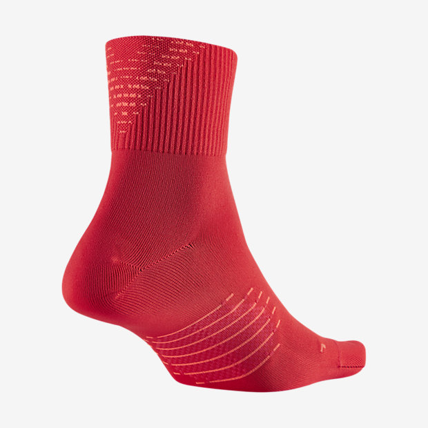 Nike Elite 2.0 Crew Bright Crimson/Hyper Orange Running Socks