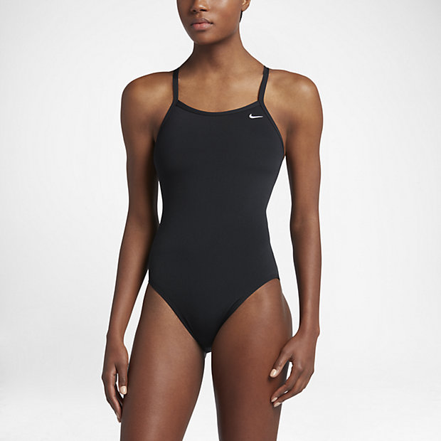 7e54dbcd76 Women s Swimsuit. Nike Poly Core Solid.  70. Midnight Navy · Black