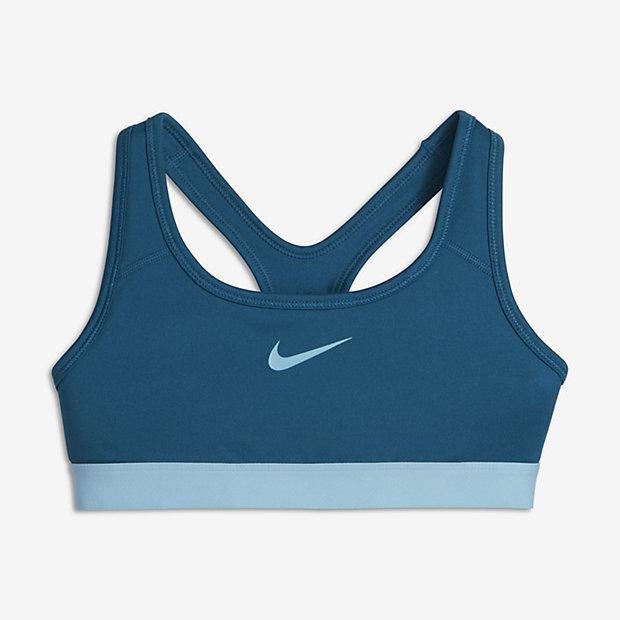Спортивное бра со средней поддержкой для девочек школьного возраста Nike