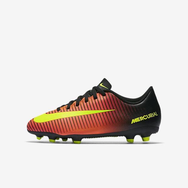 Футбольные бутсы для игры на твердом грунте для дошкольников/школьников Nike Jr. Mercurial Vortex III