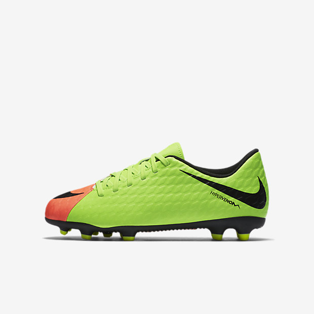 Футбольные бутсы для игры на твердом грунте для дошкольников/школьников Nike Jr. Hypervenom Phade 3
