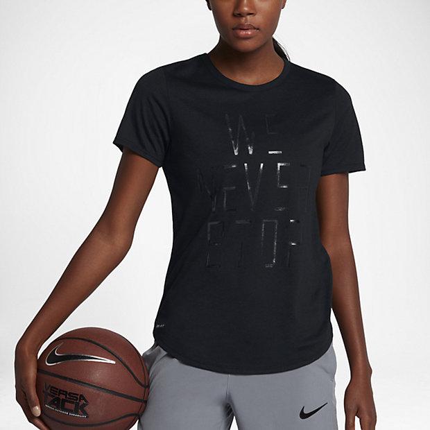 """Женская баскетбольная футболка Nike Dry """"We Never Stop"""""""