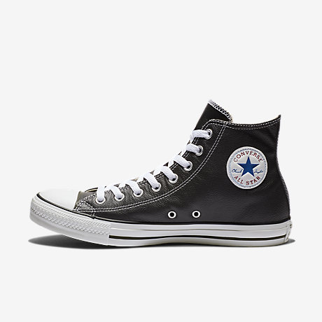 black all star converse leather