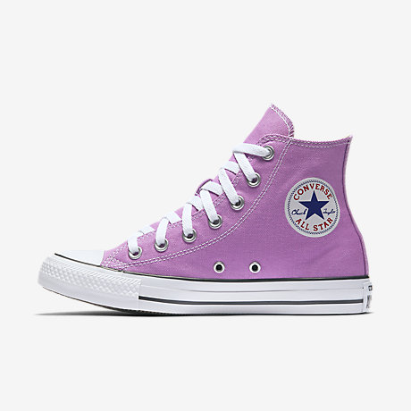Newest Converse Chuck Taylor All Star Seasonal Hi Pink Womens Trainers Outlet UK1229