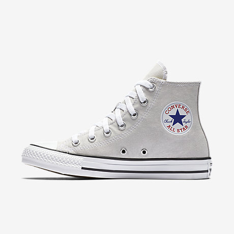 Newest Converse Chuck Taylor All Star Seasonal Hi Beige Womens Trainers Outlet UK1222