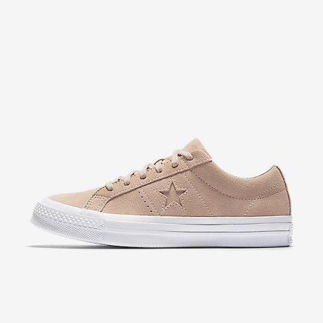 converse one star suede white