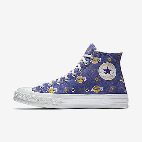 converse lakers purple