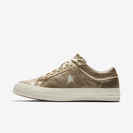 ... Converse One Star Heavy Metallic Leather Low Top Unisex Shoe top design  50943 c37d7 ... 45dc46af4