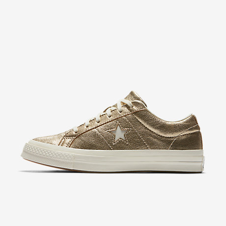 ConverseONE STAR HEAVY METALLIC - Trainers - silver