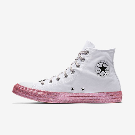 Converse Women's X Miley Cyrus Chuck Taylor All Star Glitter High Top Sneaker nbrvUKT