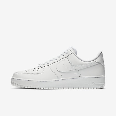mens nike air force 1 white black