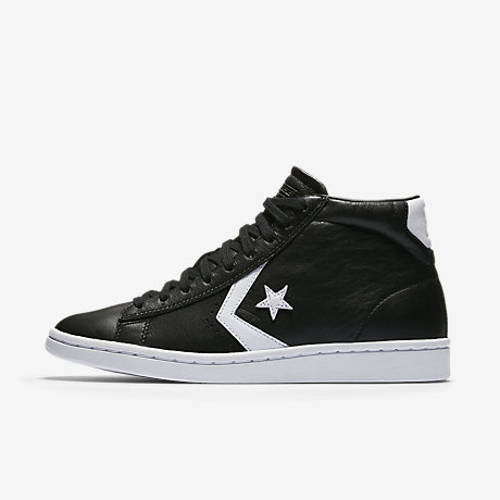 converse pro leather black