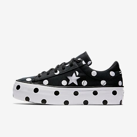 converse polka dot