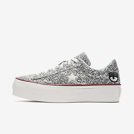Converse Chiara Ferragni One Star Glitter Leather Platform Sneakers Npt0nx5v